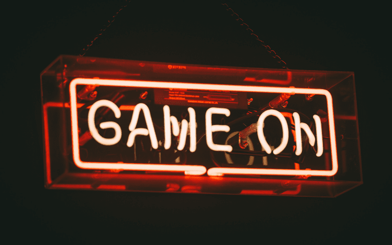 Neon sign - Game on