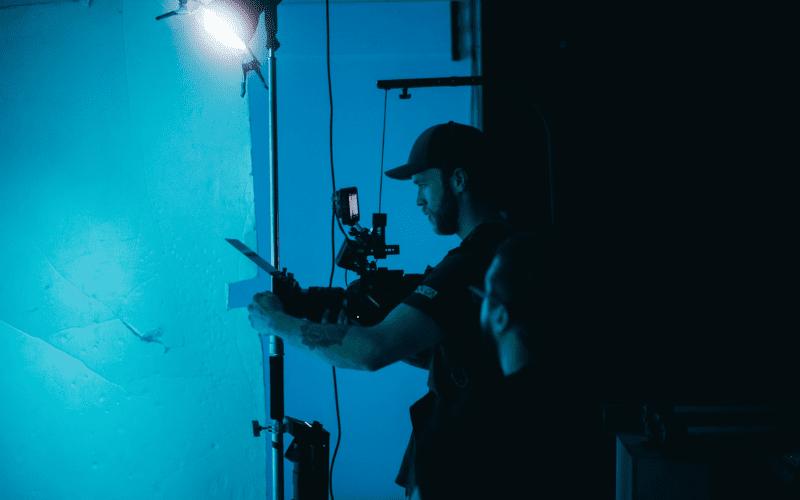 Film camera crew