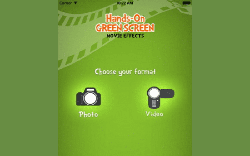 Hands on green screen app logo