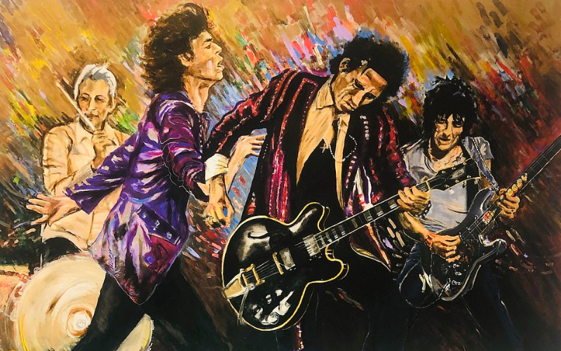 Ronnie Wood Rolling stones band artwork