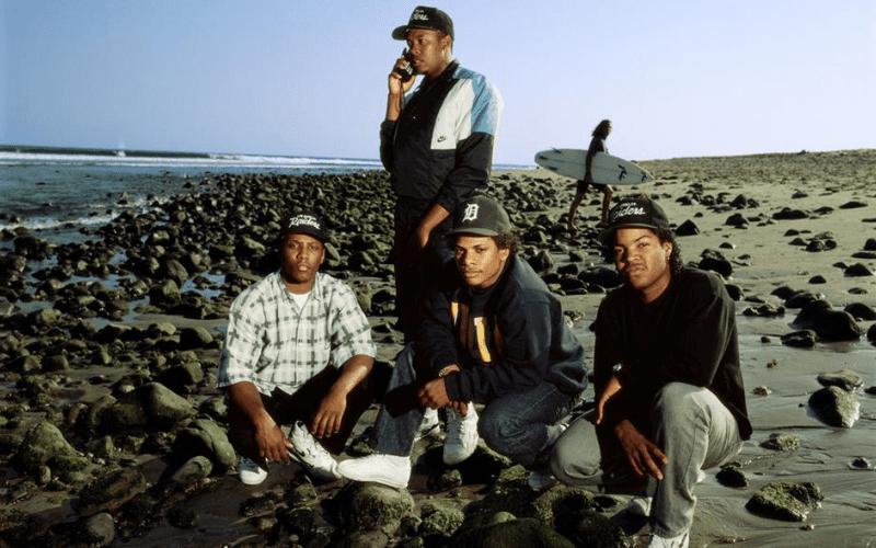 NWA band photo at the beach