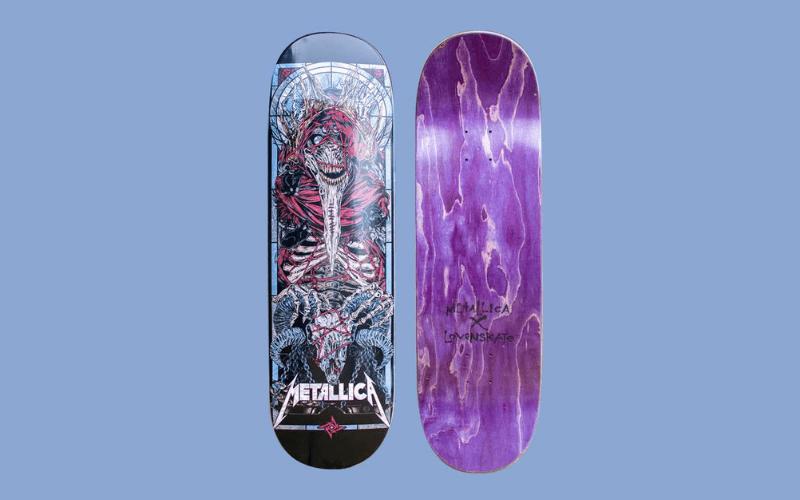 metallica lovenskate skateboard collaboration