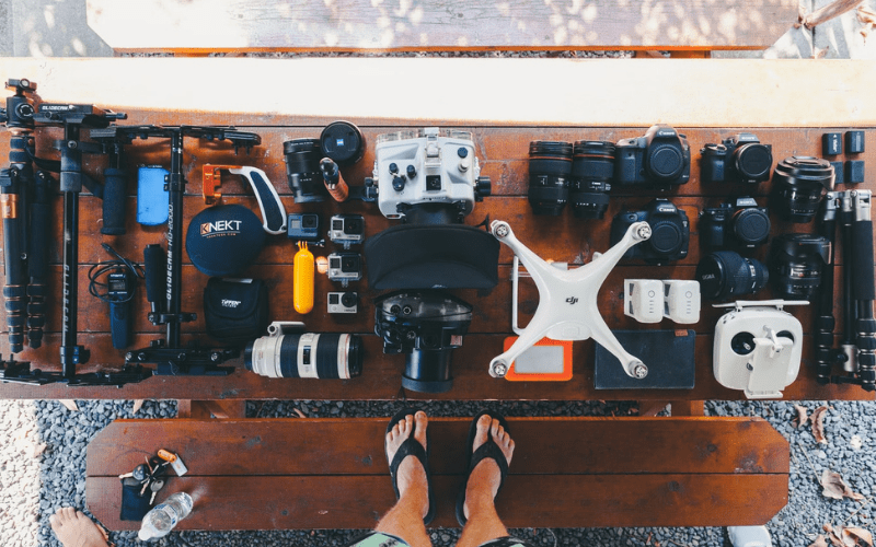 drone filming and photography equipment