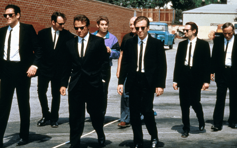 reservoir dogs characters in a line