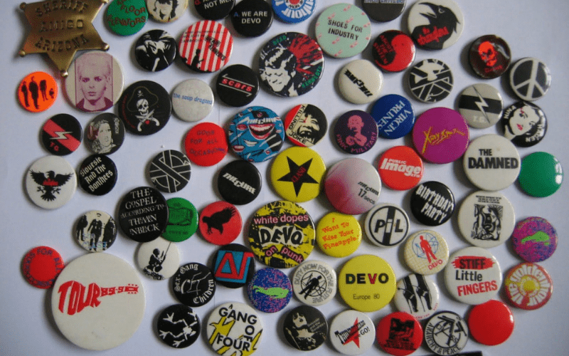 band pins and buttons merchandise