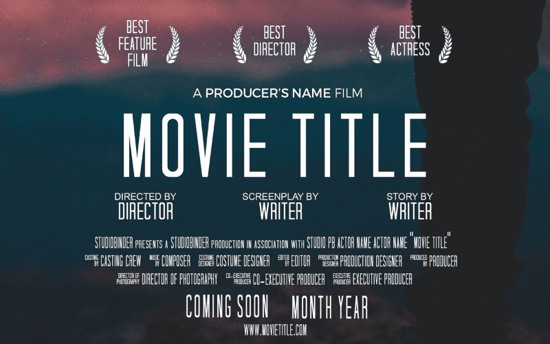 movie template for poster art