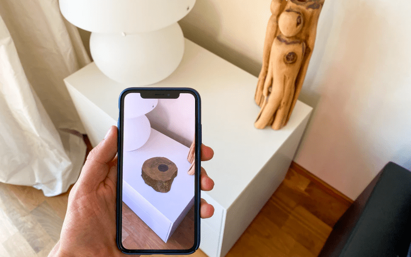 An AR picture of a log.
