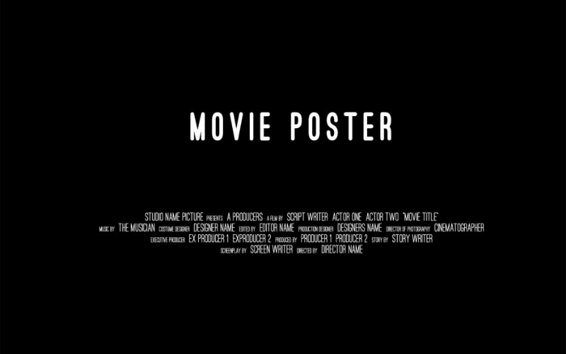 movie poster with credits