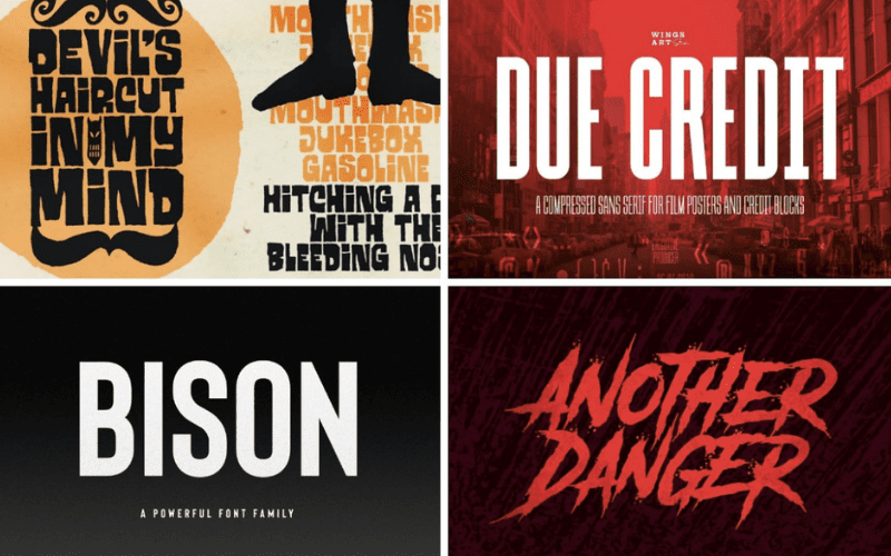 movie poster font examples