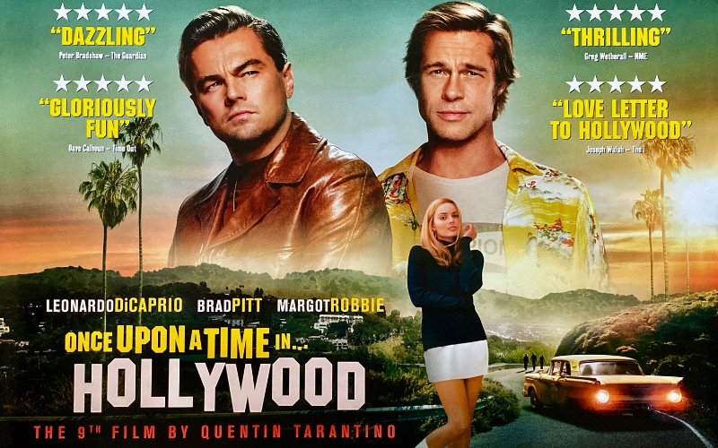 once upon a time in hollywood quentin tarantino poster