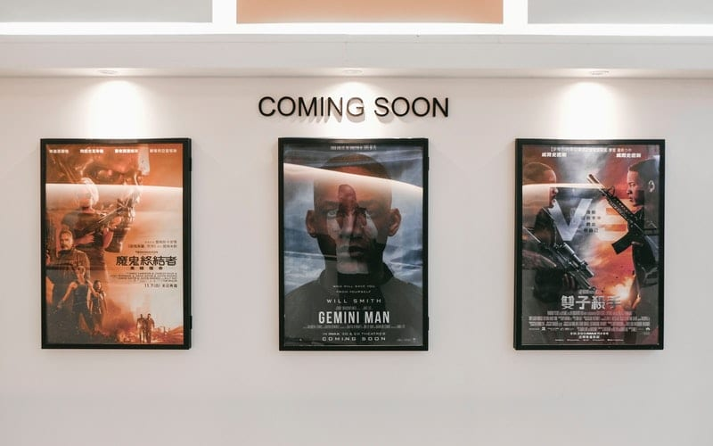 movie posters on the wall coming soon