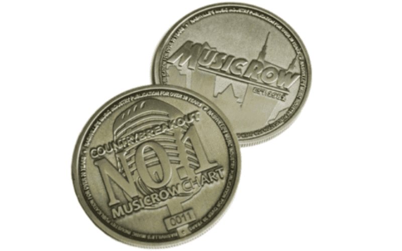 music row chart challenge coin