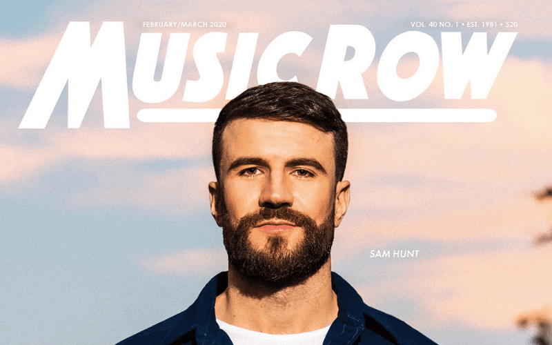 Music Row front cover with sam hunt