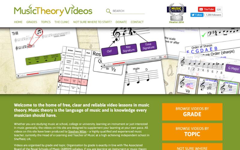 musictheoryvideos.com home page