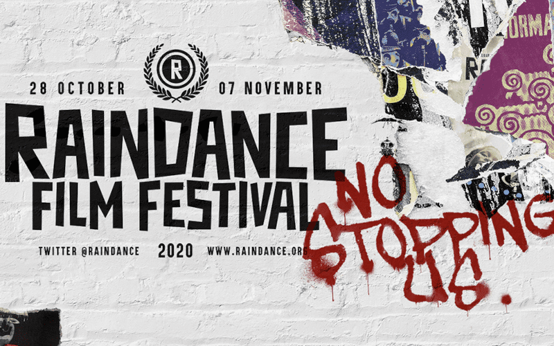 Raindance film festival promotion.