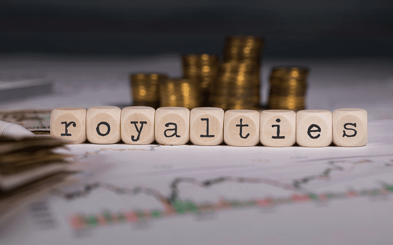 royalties with cash