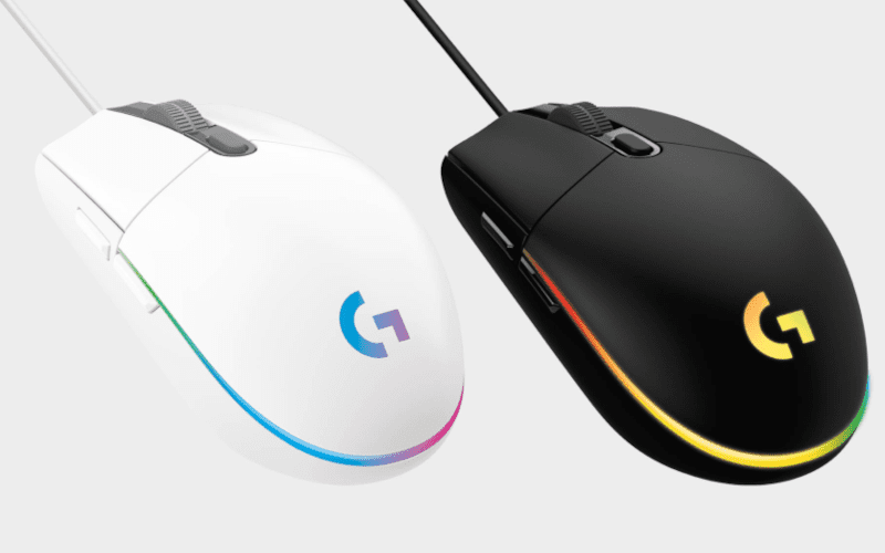 Logitech G203 Lightsync gaming mouse.
