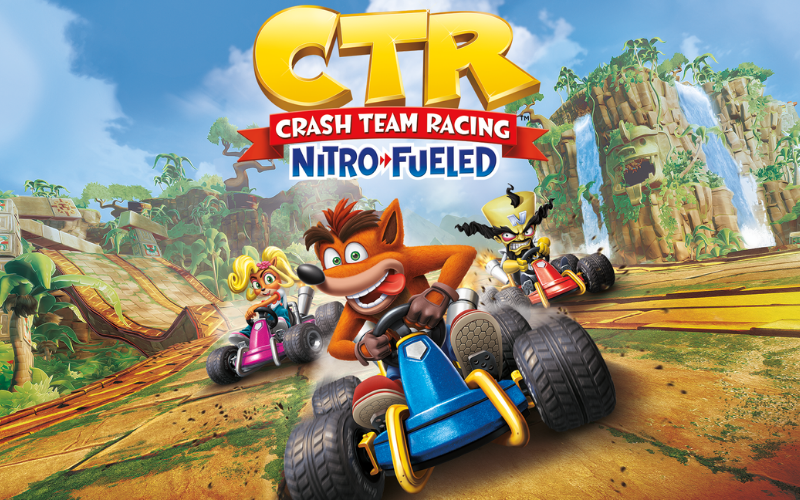 Crash team racing nitro fueled cover art  best 2 player ps4 games