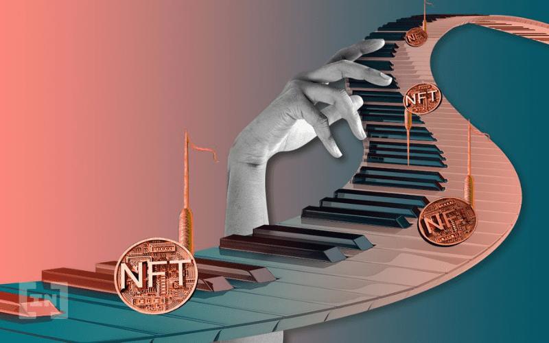 NFT non-fungible token on a piano