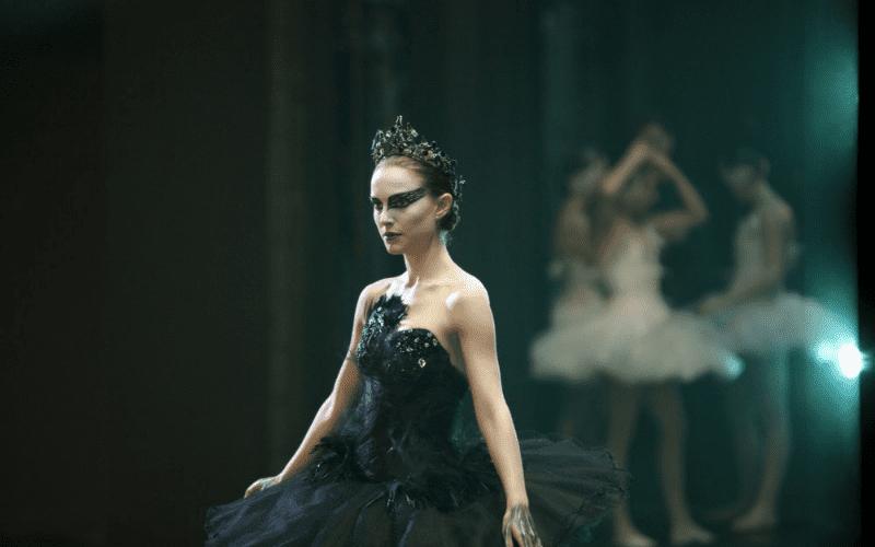 natalie portman in black swan black dress dancing