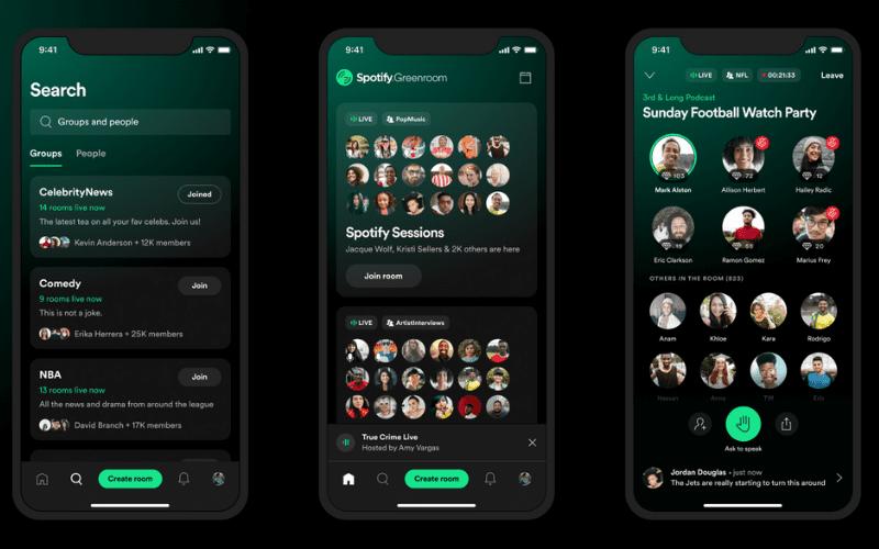 Spotify Greenroom app