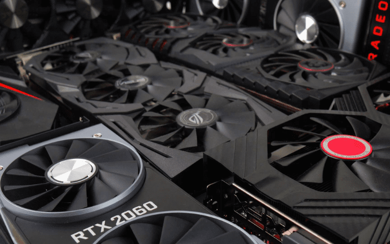 Lots of graphics cards