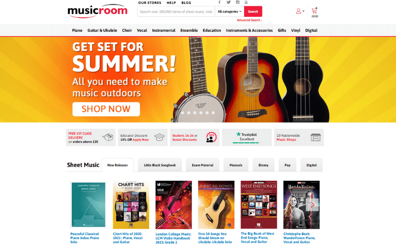 The Music Room website