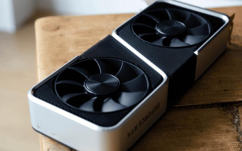 A NVIDIA GeForce RTX 3060 Ti graphics card