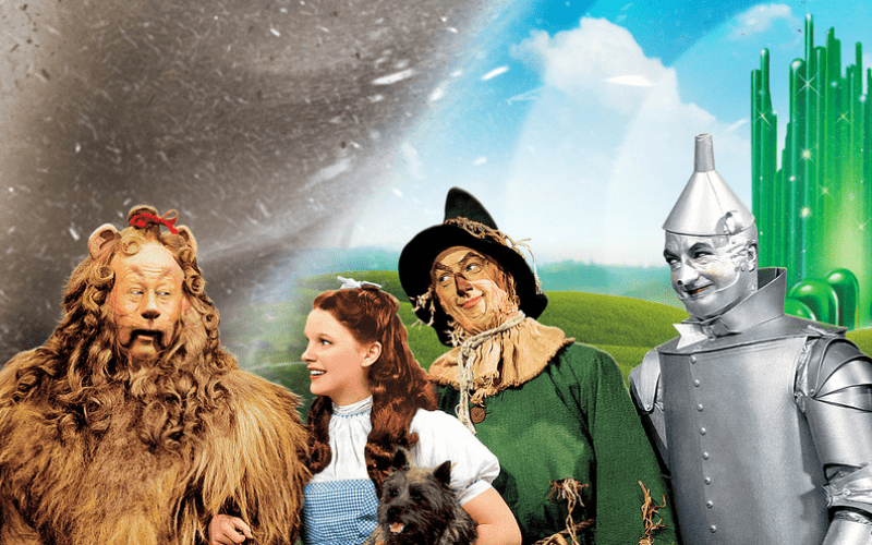 wizard of oz characters and tornado