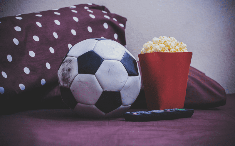 best football films of all time football popcorn and tv remote