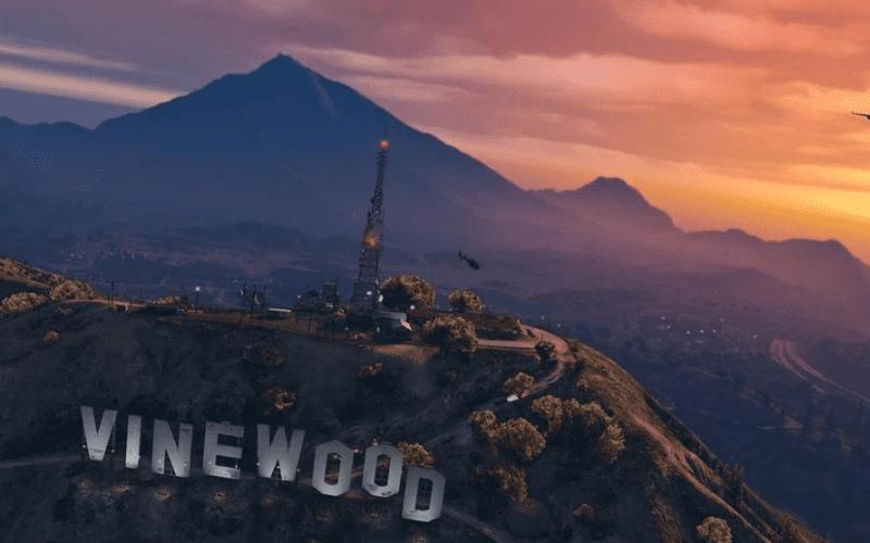 Grand Theft Auto vinewood sign