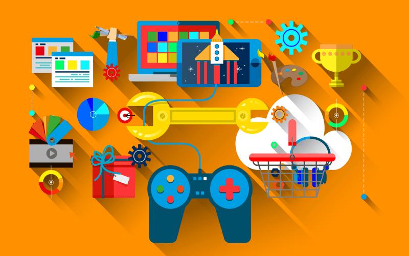 gaming development and journalism artwork