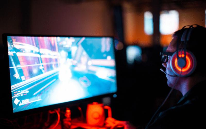 man playing games