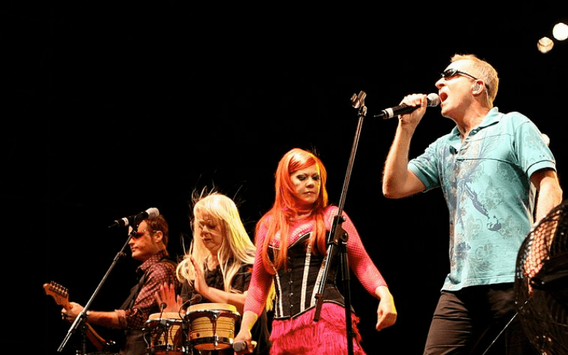 b52s on stage performing
