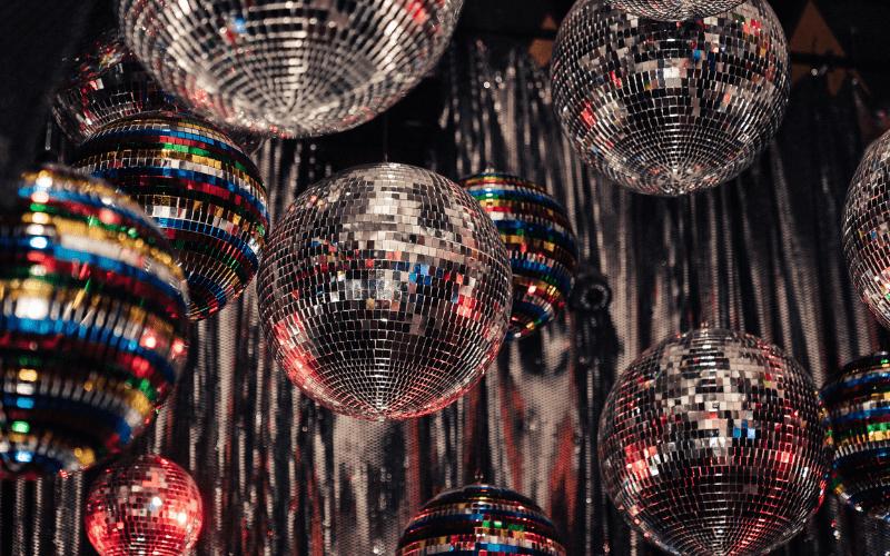 disco balls in gay clubs