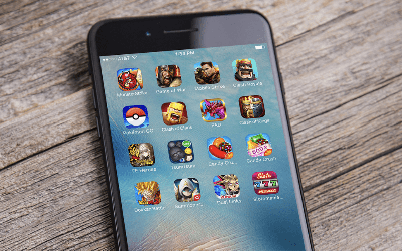 mobile games on iphone home screen