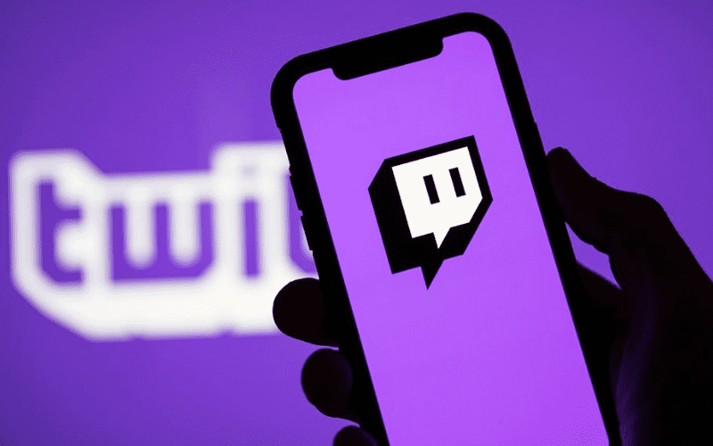 twitch logo on mobile device