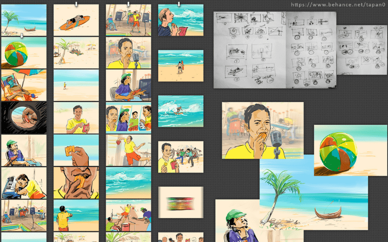 Example of a detailed storyboard