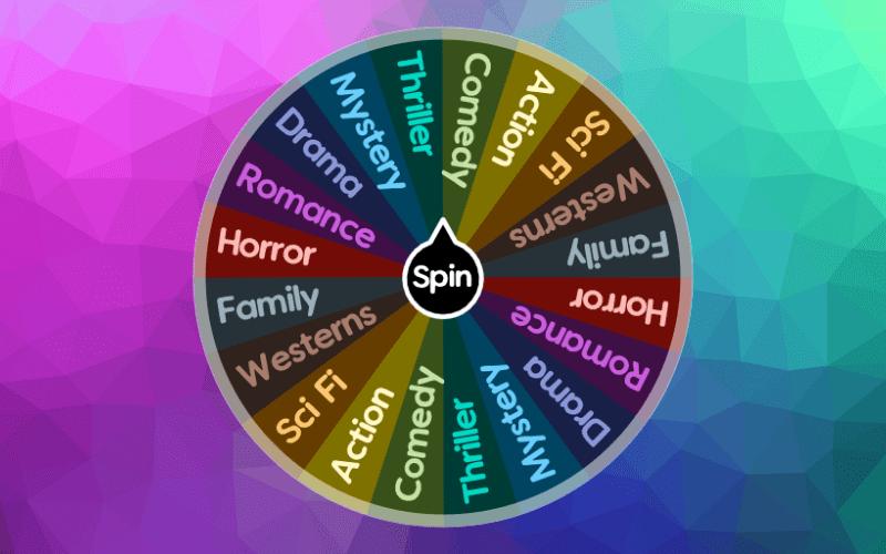 movie genres wheel spin