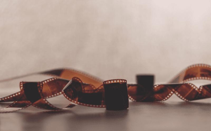 film stock photo movie trailer