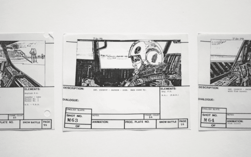 Example of a professional storyboard