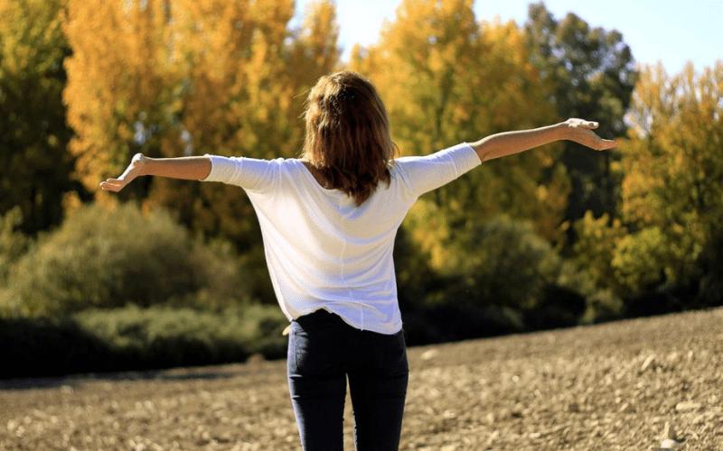fresh air woman outdoors