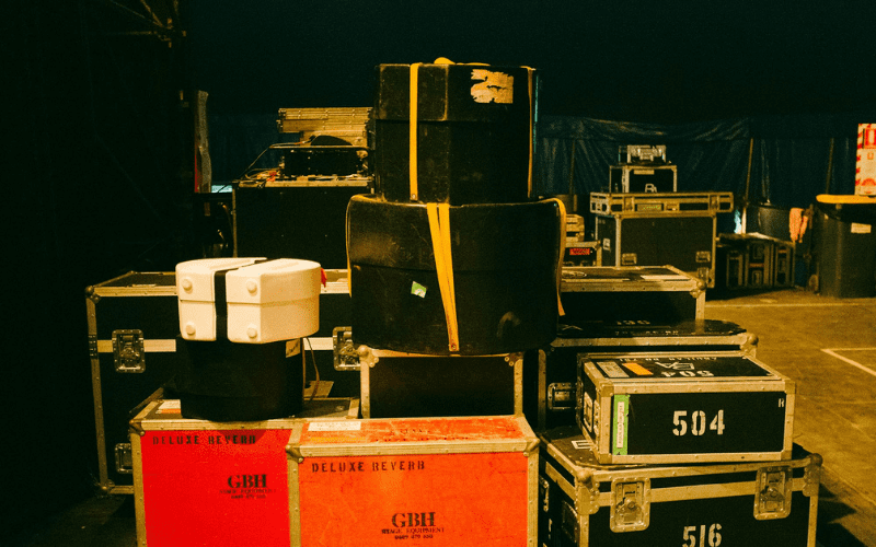 music cases backstage