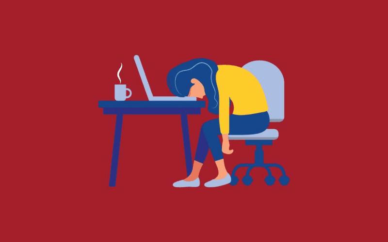 writers block laptop at desk