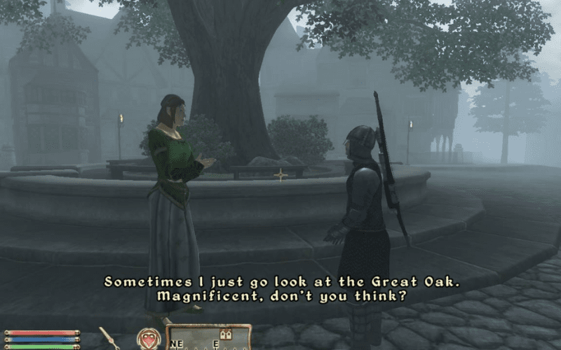 Oblivion represented the shaky beginnings of sophisticated artificial intelligence in gaming.
