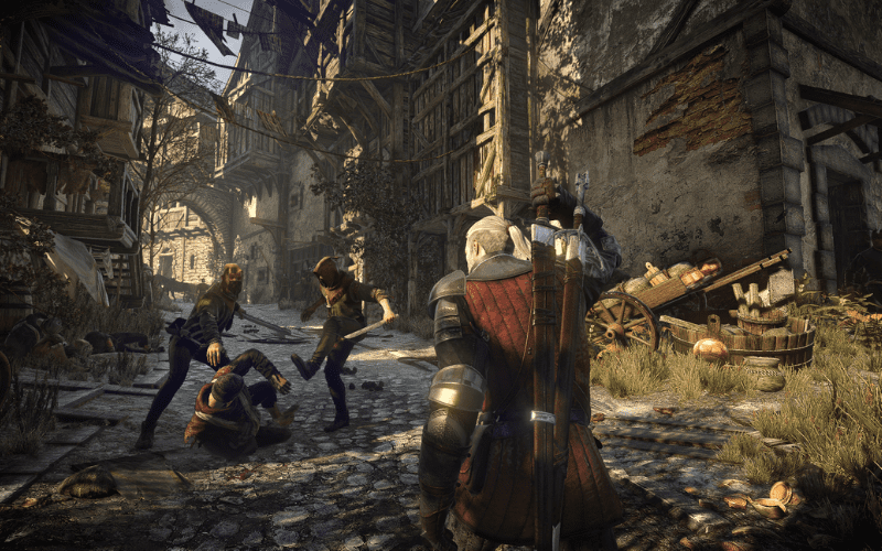 The Witcher 3's NPCs are an example of sophisticated AI in gaming.