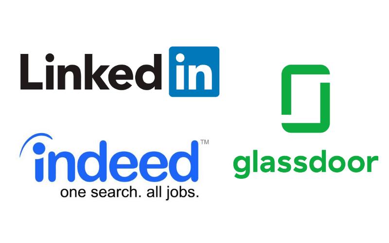 linkedin glassdoor and indeed logo