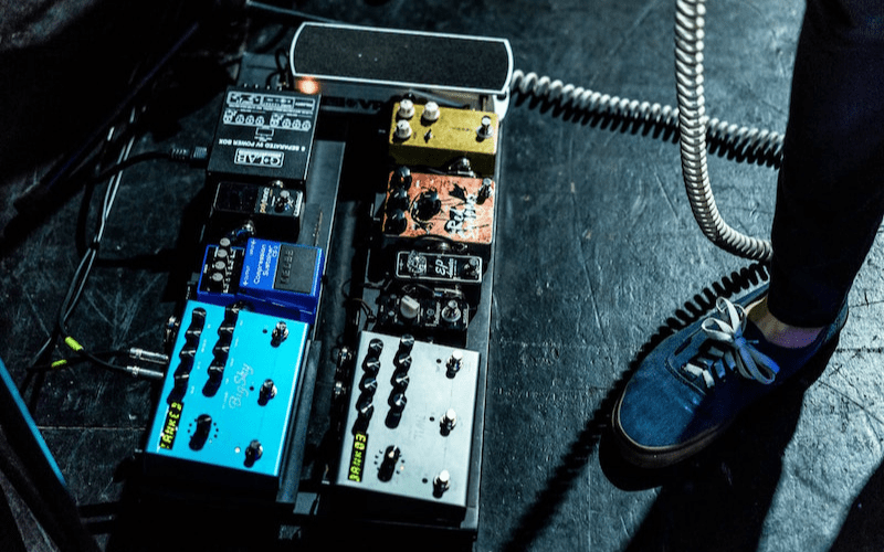 pedalboard at live show