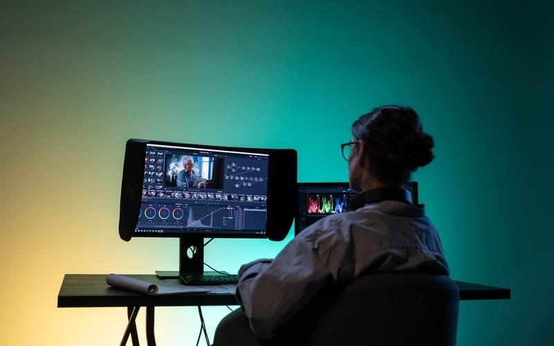 film editor in studio