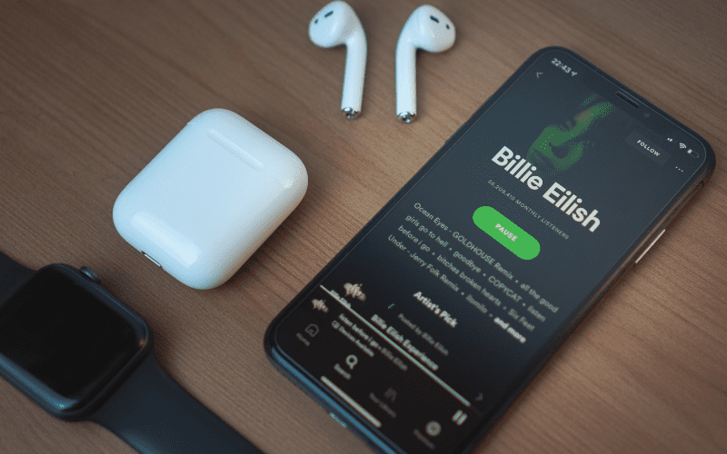 Spotify and earphones